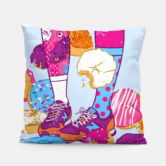 Thumbnail image of Don't step over donuts Pillow, Live Heroes