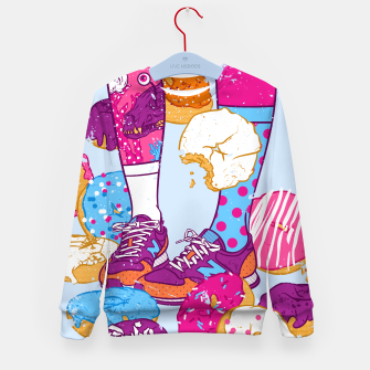 Thumbnail image of Don't step over donuts Kid's sweater, Live Heroes