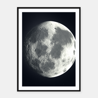 Thumbnail image of Universe Galaxy Planet The Moon Framed poster, Live Heroes