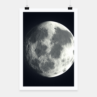 Thumbnail image of Universe Galaxy Planet The Moon Poster, Live Heroes