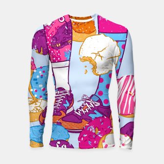 Thumbnail image of Don't step over donuts Longsleeve rashguard , Live Heroes