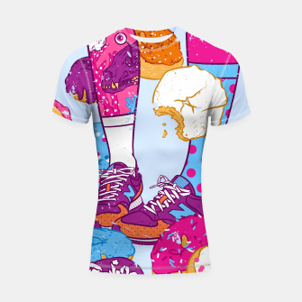 Thumbnail image of Don't step over donuts Shortsleeve rashguard, Live Heroes