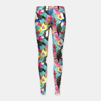 Thumbnail image of Tropical birds Girl's leggings, Live Heroes
