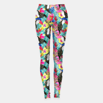 Miniatur Tropical birds Leggings, Live Heroes