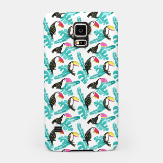 Watercolor toucan and leaves Samsung Case thumbnail image