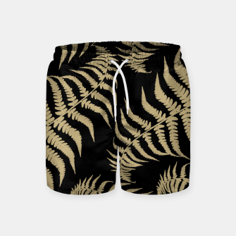 Thumbnail image of Fern Leaves Pattern - Golden Dream #1 #ornamental #decor #art Badeshorts, Live Heroes