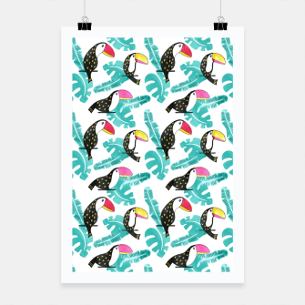 Watercolor toucan and leaves Poster thumbnail image