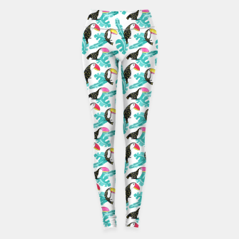 Miniatur Watercolor toucan and leaves Leggings, Live Heroes