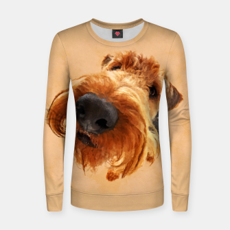 Thumbnail image of Funny  Airedale Terrier Woman cotton sweater, Live Heroes