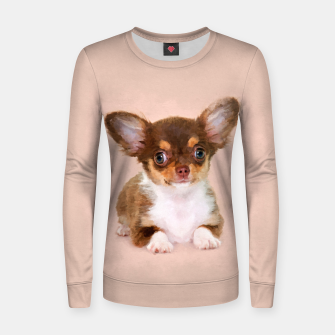 Thumbnail image of Chihuahua Puppy Woman cotton sweater, Live Heroes