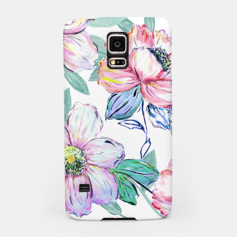 Miniaturka Romantic watercolor flowers hand paint design Samsung Case, Live Heroes