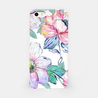 Thumbnail image of Romantic watercolor flowers hand paint design iPhone Case, Live Heroes
