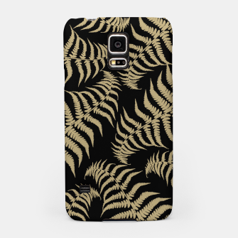 Thumbnail image of Fern Leaves Pattern - Golden Dream #1 #ornamental #decor #art Handyhülle für Samsung, Live Heroes