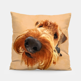 Thumbnail image of Funny  Airedale Terrier Pillow, Live Heroes