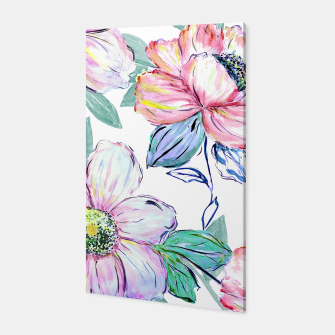 Thumbnail image of Romantic watercolor flowers hand paint design Canvas, Live Heroes