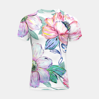 Miniatur Romantic watercolor flowers hand paint design Shortsleeve rashguard, Live Heroes