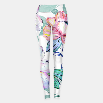 Miniatur Romantic watercolor flowers hand paint design Leggings, Live Heroes