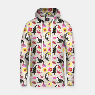 Thumbnail image of Watercolor toucan Cotton hoodie, Live Heroes