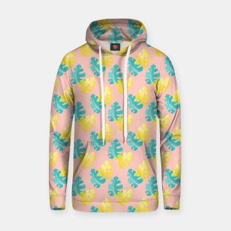 Thumbnail image of Monstera leaves Cotton hoodie, Live Heroes