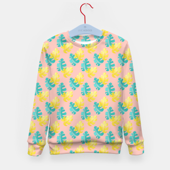 Thumbnail image of Monstera leaves Kid's sweater, Live Heroes