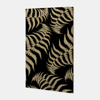 Thumbnail image of Fern Leaves Pattern - Golden Dream #1 #ornamental #decor #art Canvas, Live Heroes