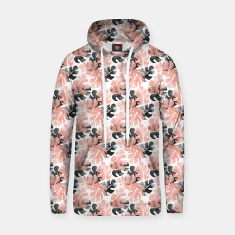 Thumbnail image of Monstera shadow Cotton hoodie, Live Heroes