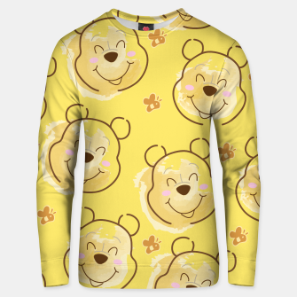 Miniaturka Inspired Pooh bear on yellow background pattern Cotton sweater, Live Heroes