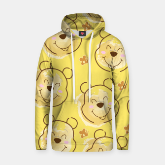 Miniaturka Inspired Pooh bear on yellow background pattern Cotton hoodie, Live Heroes