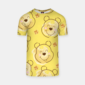 Miniaturka Inspired Pooh bear on yellow background pattern T-shirt, Live Heroes