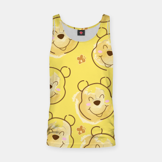 Miniaturka Inspired Pooh bear on yellow background pattern Tank Top, Live Heroes