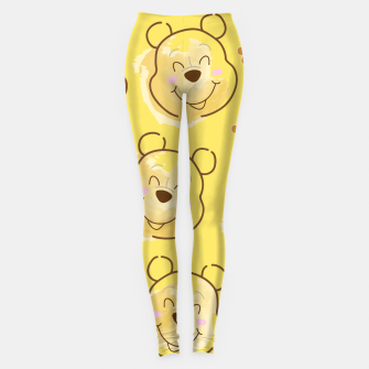 Miniaturka Inspired Pooh bear on yellow background pattern Leggings, Live Heroes