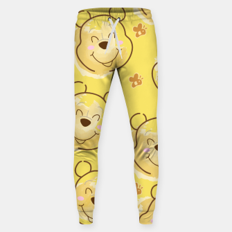 Miniaturka Inspired Pooh bear on yellow background pattern Cotton sweatpants, Live Heroes