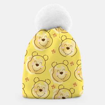 Miniaturka Inspired Pooh bear on yellow background pattern Beanie, Live Heroes