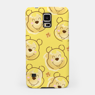 Miniaturka Inspired Pooh bear on yellow background pattern Samsung Case, Live Heroes