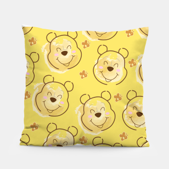Miniaturka Inspired Pooh bear on yellow background pattern Pillow, Live Heroes