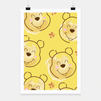 Miniaturka Inspired Pooh bear on yellow background pattern Poster, Live Heroes