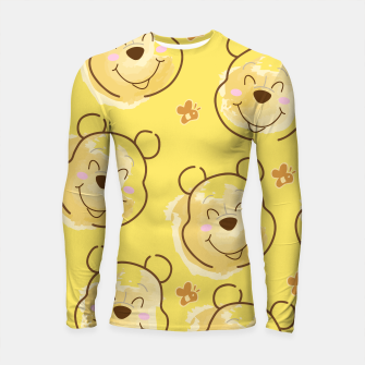 Miniaturka Inspired Pooh bear on yellow background pattern Longsleeve rashguard , Live Heroes
