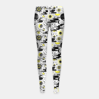 Thumbnail image of Solar Eclipse Girl's leggings, Live Heroes
