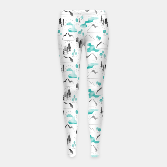 Thumbnail image of Outdoor Map  Girl's leggings, Live Heroes