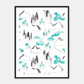 Outdoor Map  Framed poster thumbnail image