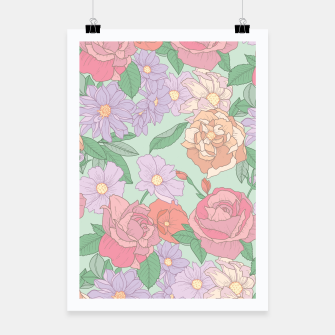Thumbnail image of Summer Garden Floral Print Poster, Live Heroes