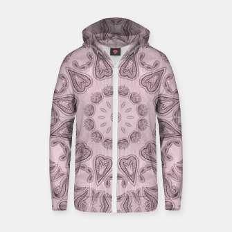 Thumbnail image of Pastel violet  Kaleidoscope Mandala  Cotton zip up hoodie, Live Heroes