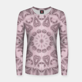Thumbnail image of Pastel violet  Kaleidoscope Mandala  Woman cotton sweater, Live Heroes