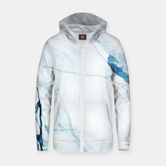 Thumbnail image of Moroccan Blues Cotton zip up hoodie, Live Heroes
