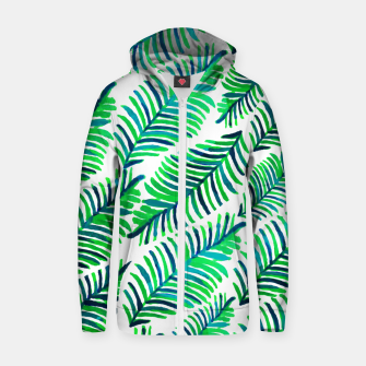 Thumbnail image of Palm Solace  Cotton zip up hoodie, Live Heroes