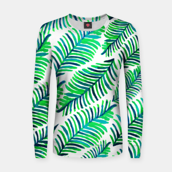 Thumbnail image of Palm Solace  Woman cotton sweater, Live Heroes