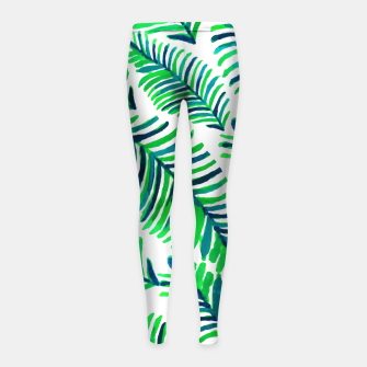 Thumbnail image of Palm Solace  Girl's leggings, Live Heroes