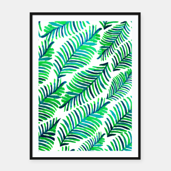 Thumbnail image of Palm Solace  Framed poster, Live Heroes