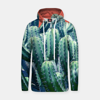 Thumbnail image of Cactus on Coral Cotton hoodie, Live Heroes