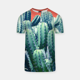 Thumbnail image of Cactus on Coral T-shirt, Live Heroes
